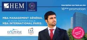 MBA Management Général HEM - En double diplomation avec Dauphine – IAE de Paris!