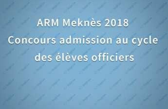 Concours élèves officiers Académie Royale Militaire ARM 2018