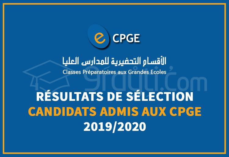 Calendrier Concours Cpge 2019.Resultats De Selection Des Candidats Admis Aux Cpge 2019